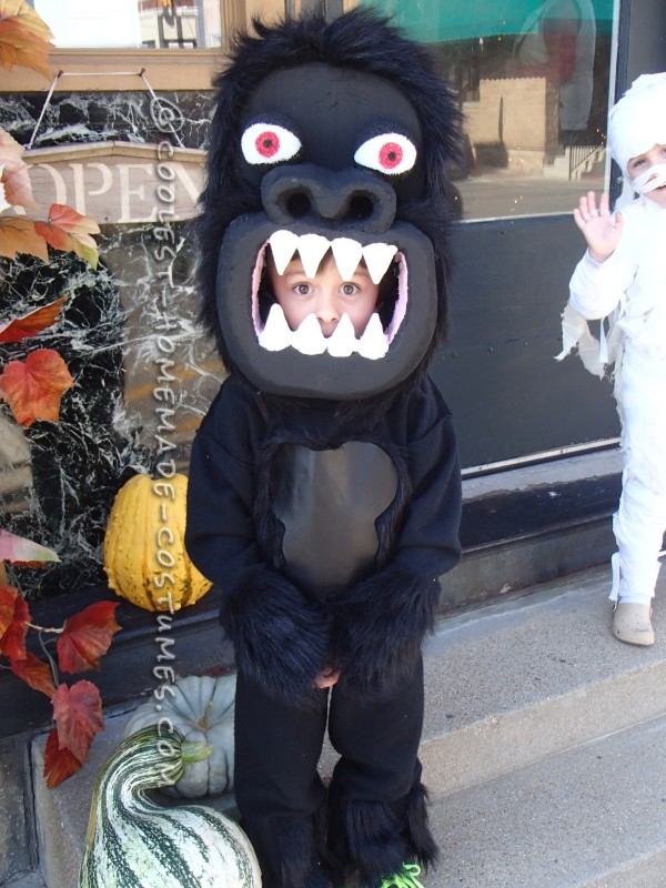 Awesome Homemade Gorilla Costume for a Boy