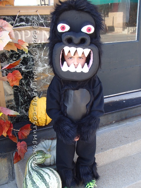 Awesome Homemade Gorilla Costume for a Boy - 1