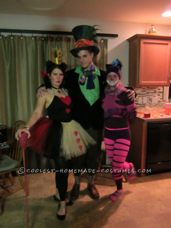 Queen of Hearts, Mad Hatter and Cheshire Cat