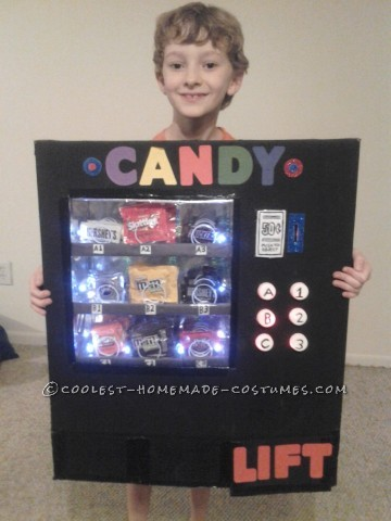 Awesome Light-Up Vending Machine Costume
