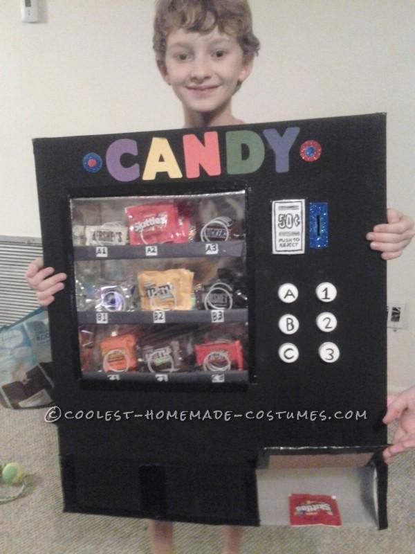 Vending machine-dispensing candy