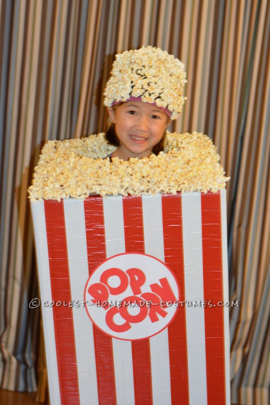Awesome Child's Popcorn Halloween Costume
