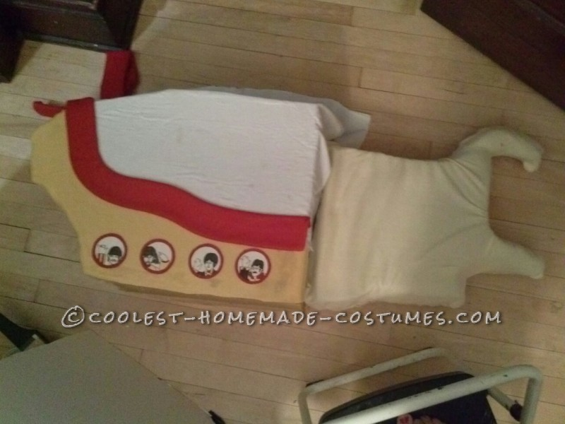 Awesome Yellow Submarine Costume for a 5-Year Old Girl - 3