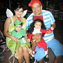 Cool Captain Hook and Peter Pan Twin Toddler Costumes and Daddy Mr. Smee