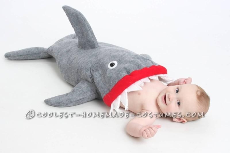 Coolest Baby Shark Attack Costume Using Baby Carrier - 1