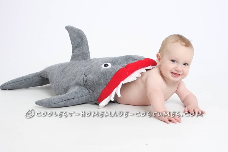 Coolest Baby Shark Attack Costume Using Baby Carrier - 2