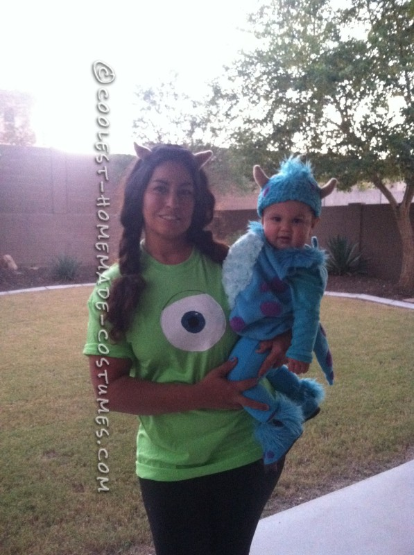"Mama ""mike Wazowski"" and baby ""Sulley"""