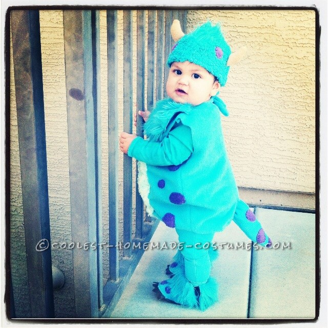 Baby Sully Halloween Costume (Together with Mommy Mike Wazowski) - 1