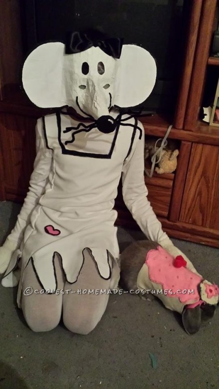 Original Homemade Babymouse Costume for a Girl