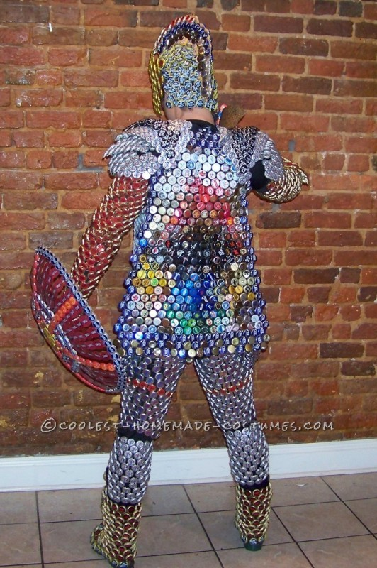 Recycled Beer Capped Crusader Costume (Drinking in the Name of Art!) - 3