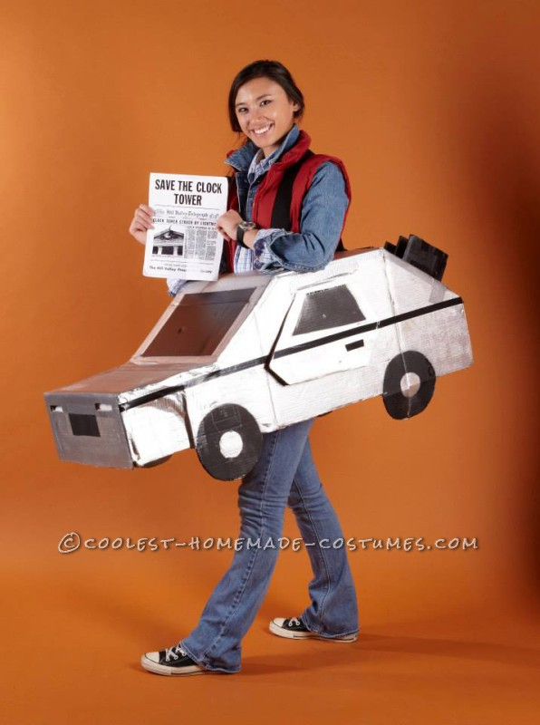 Back to the Future Marty McFly and the Delorean Costume