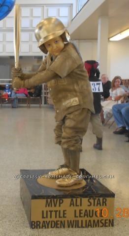 Cool Homemade Baseball Trophy Costume