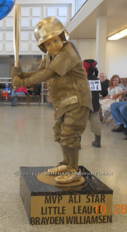 Cool Homemade Baseball Trophy Costume - 3