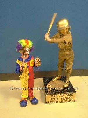 Cool Homemade Baseball Trophy Costume - 4
