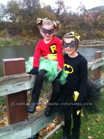 Girly Batman and Robin Costumes