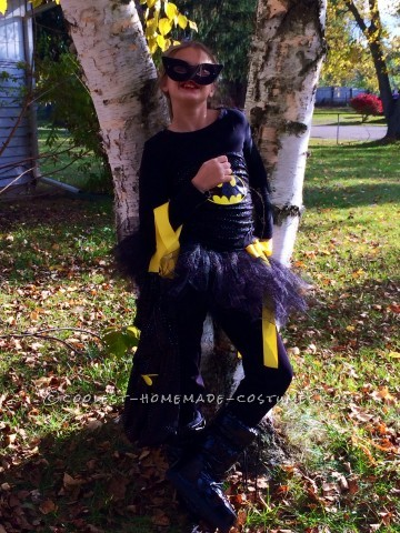 Homemade Batman Costume with a Girlie Twist