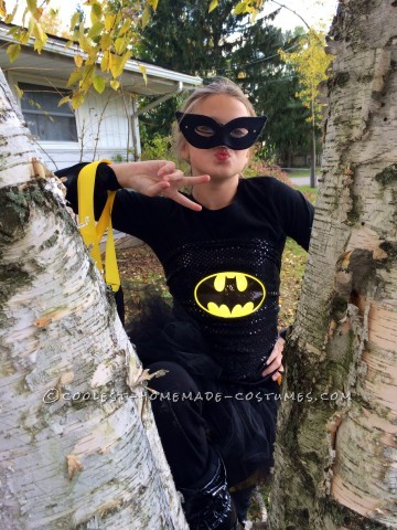 Homemade Batman Costume with a Girlie Twist