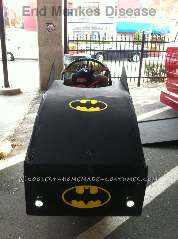 Luke as Batman in his Batmobile wheelchair