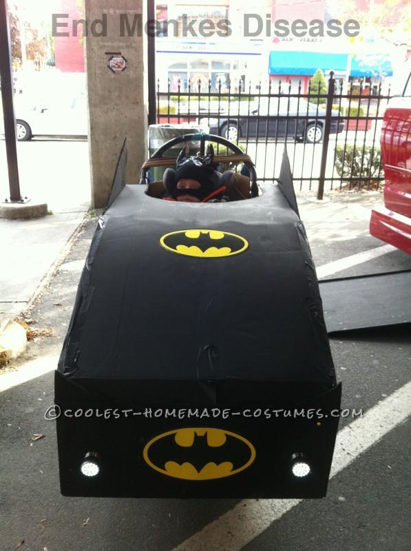 Luke as Batman in his Batmobile wheelchair