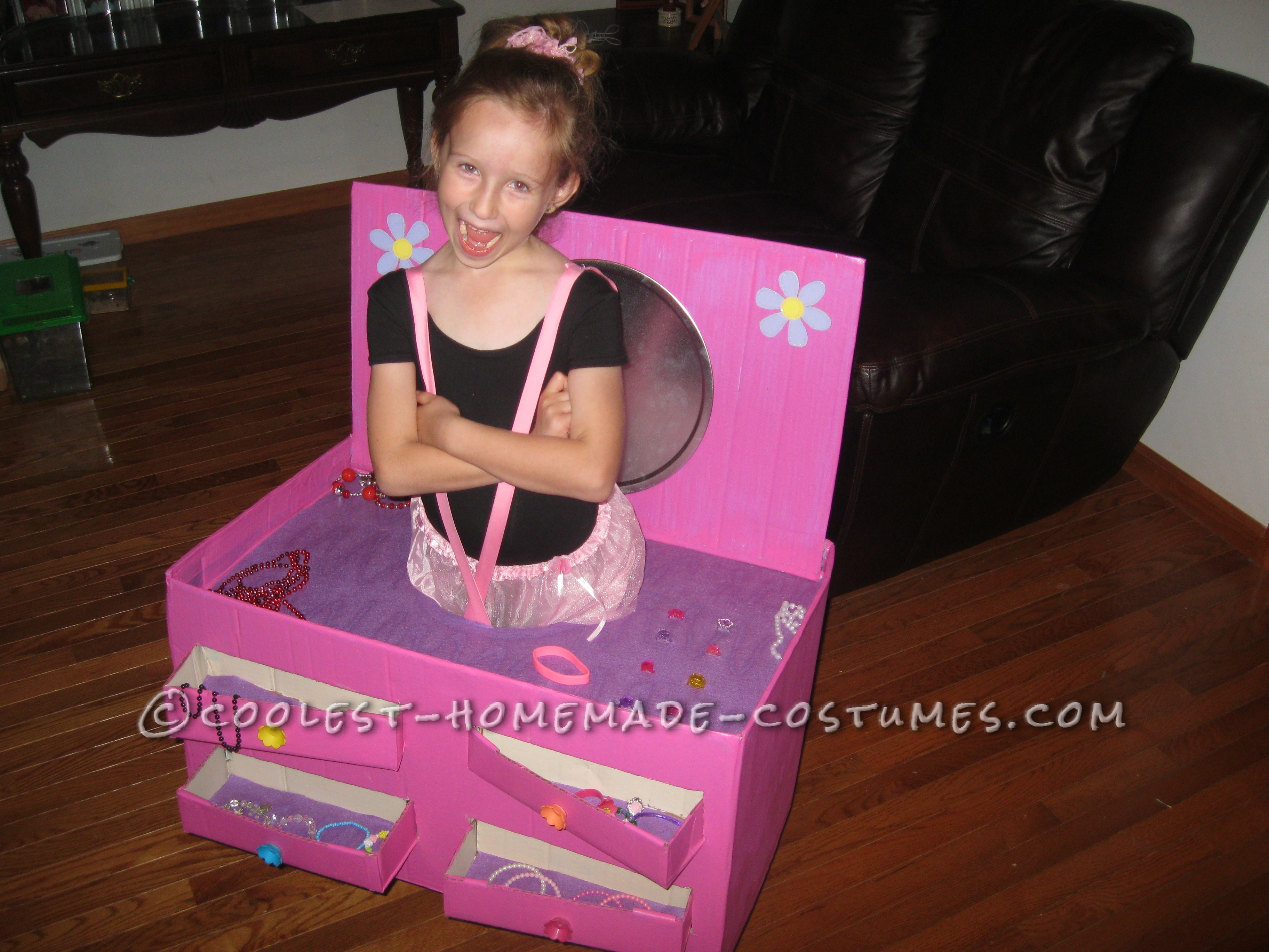 Beautiful Ballerina in a Jewelry Box Costume