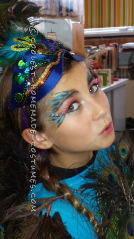 Beautiful Homeamde Peacock Costume for a Girl