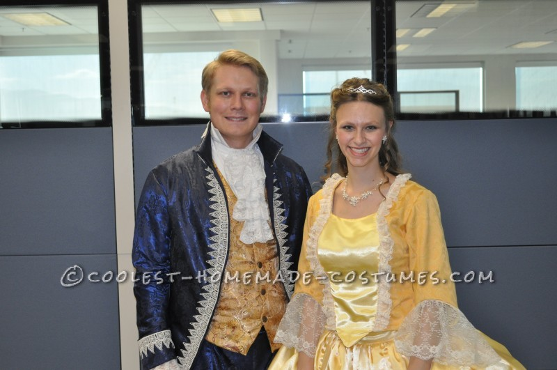 Beauty and the Beast with Baby Lumiere Family Costume