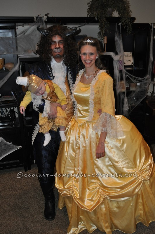 Beauty and the Beast with Baby Lumiere Family Costume - 1