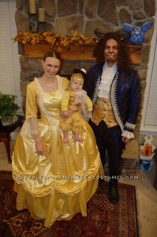 Wonderful Beauty And The Beast With Baby Lumiere Family Costume