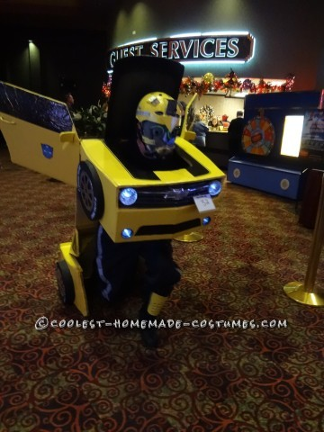 Cool DIY Bumblebee Transformer Costume
