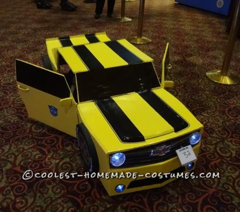 Cool DIY Bumblebee Transformer Costume