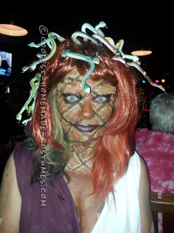 Cool DIY Medusa Halloween Costume