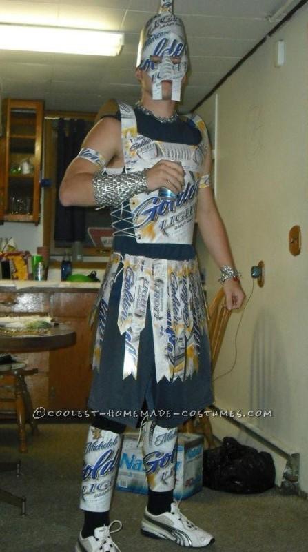Best Homemade Beer Lover Costume: Beer Carton Warrior!
