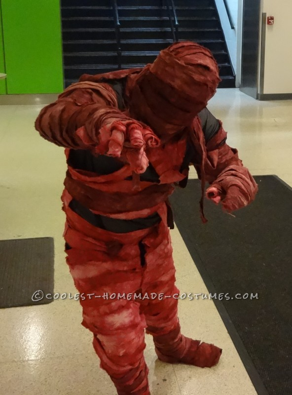 Beware of the Bloody Mummy Homemade Halloween Costume