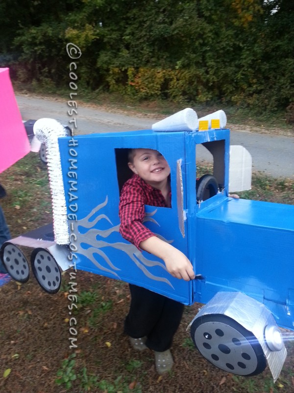 Big Rig Truck Halloween Costume for a Boy