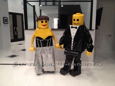 Cool Black Tie Affair Minifig Couple Costume
