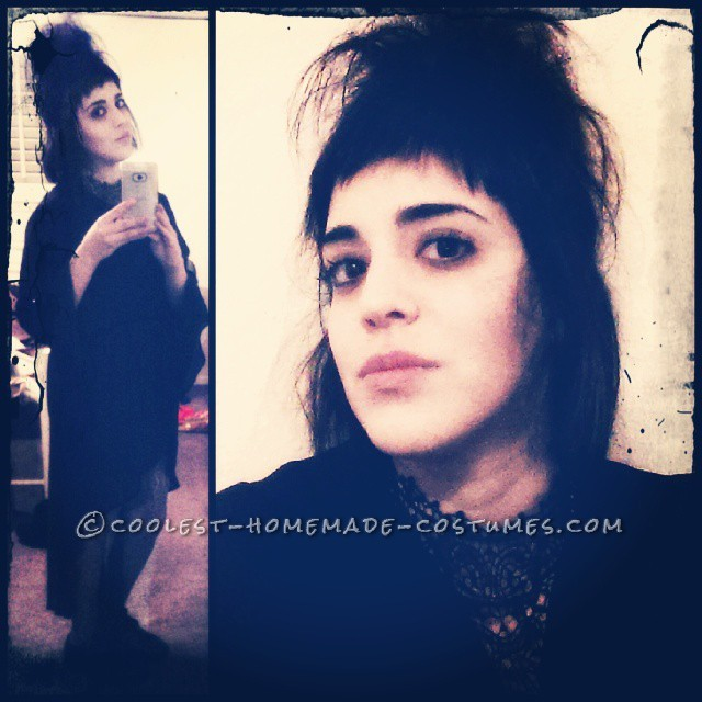Born with Winona Ryder's Lydia Deetz Character Face