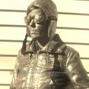 Amelia Earhart Bronze Living Statue Costume