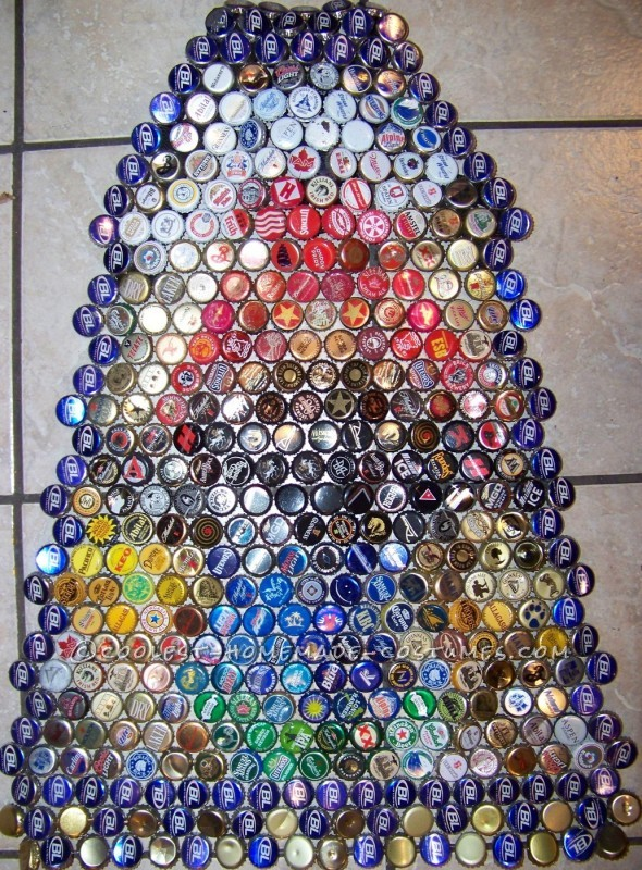 Recycled Beer Capped Crusader Costume (Drinking in the Name of Art!) - 9