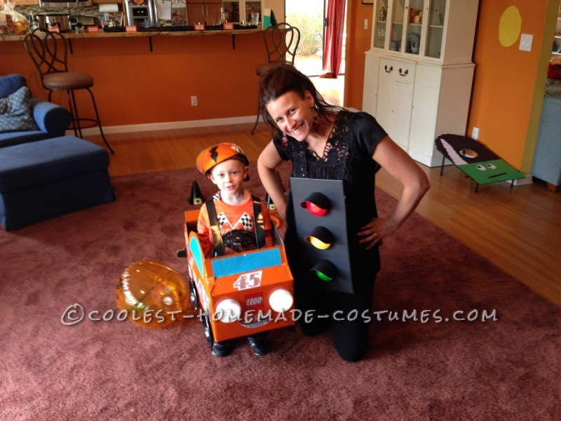 Cheap and Easy Car-Themed Family Halloween Costumes