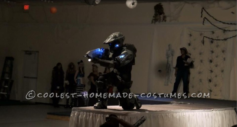 Coolest Cardboard and Foam Master Chief Costume