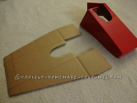 Cardboard and Duct Tape Captain America Halloween Costume