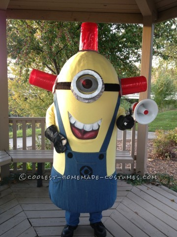 Cool Homemade Carl BeeDoo Minion Costume
