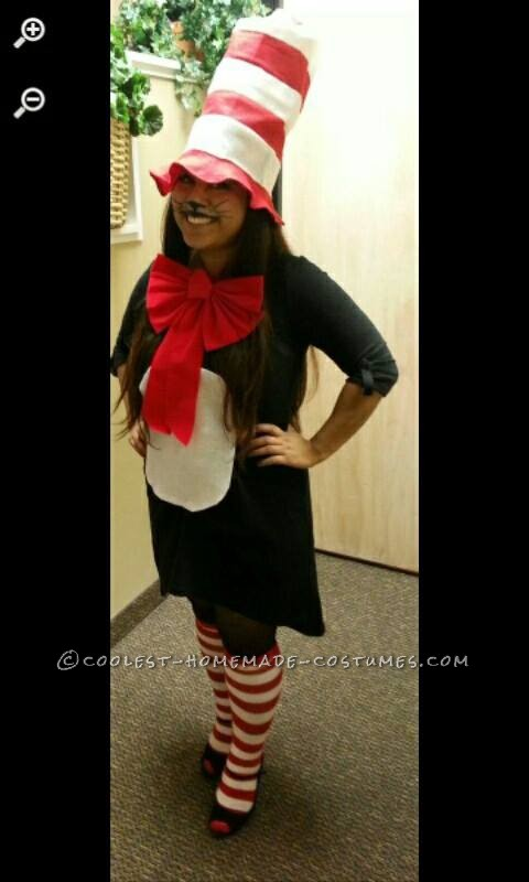 Woman's Cat in the Hat Costume with Pet Dogs Thing 1 Thing 2 - 2