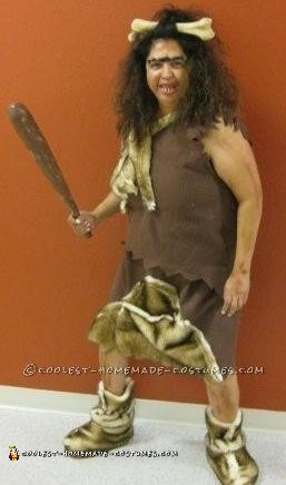 Cool DIY Cave Woman Costume