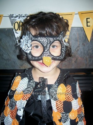 Cheap Shabby Chic Girl's Owl Witch Costume - 1