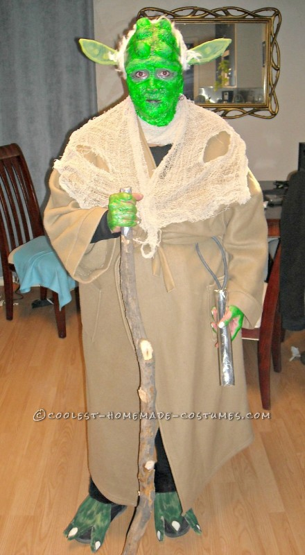 Cheap DIY Yoda Costume