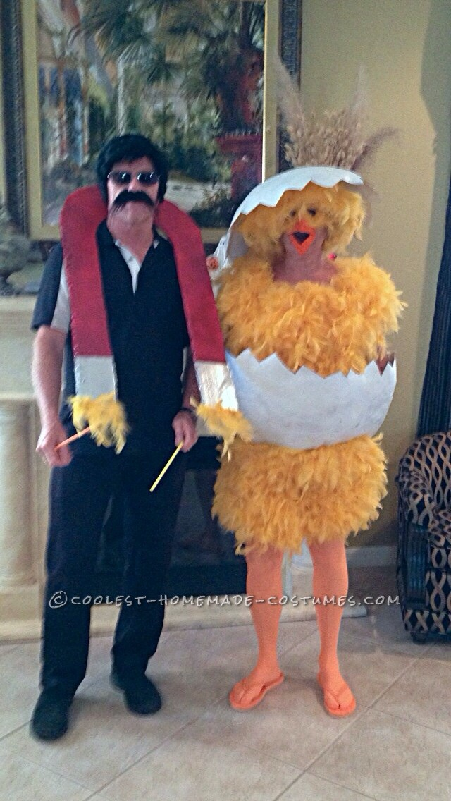 Funny Chick and Chick Magnet Couple Halloween Costume