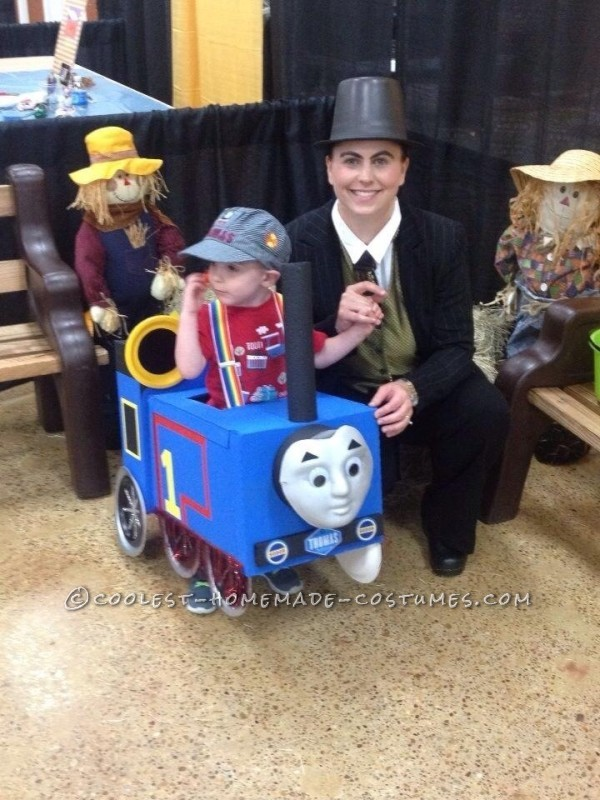 Choo Choo Thomas Costume for a Toddler - 2