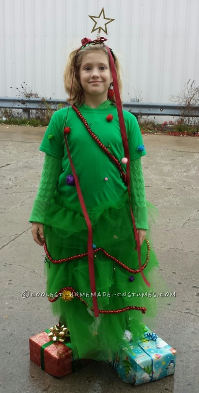 Cool Homemade Christmas Tree Halloween Costume
