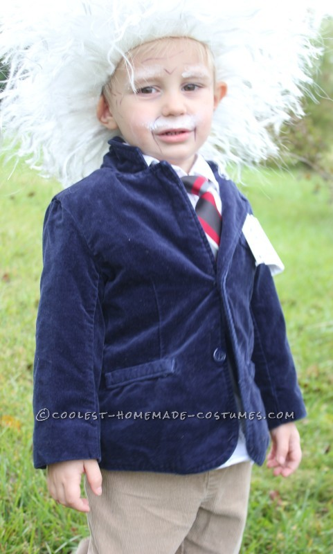 Cool Homemade Albert Einstein Toddler Costume - 3